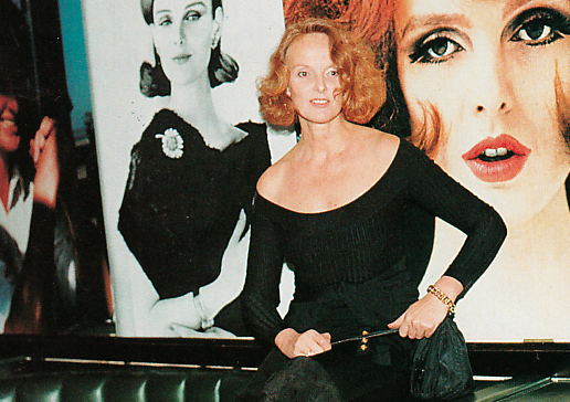 Coddington at her 50th birthday party in 1991