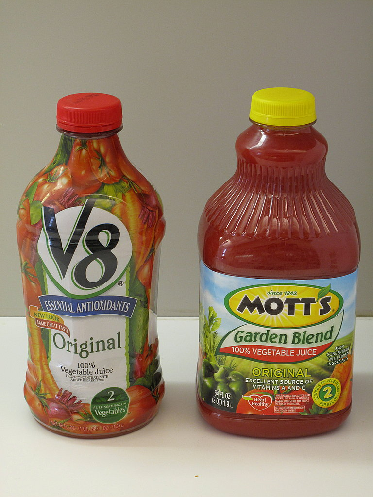 Taste Test: V8 Versus Mott's 100% Vegetable Juice