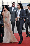 Russell Brand Has Kisses For Wife Katy Perry at His UK Arthur Premiere