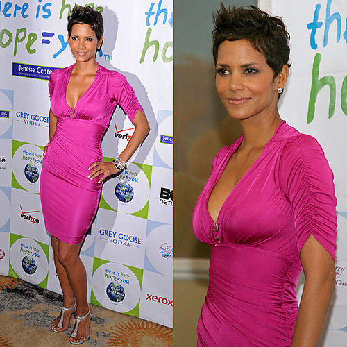Halle Berry Wears Roberto Cavalli Dress