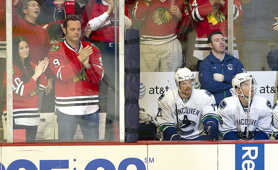 Vince Vaughn and His Wife, Kyla, Have a Hockey Date Night