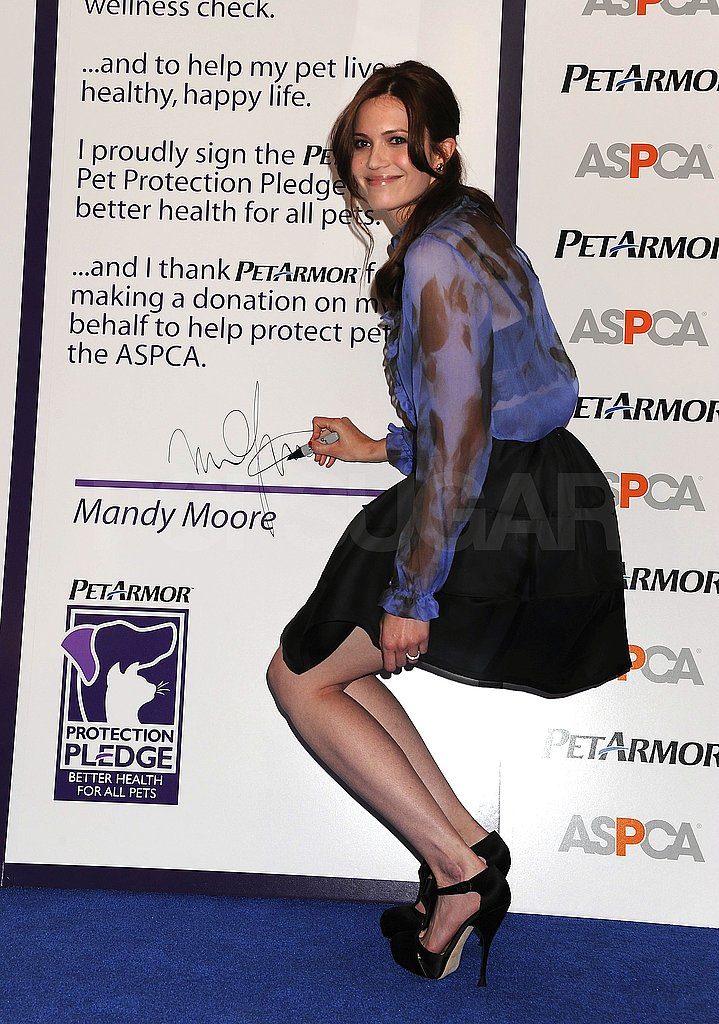 Mandy Moore Joins Some Furry Friends to Promote Her New Pet Project