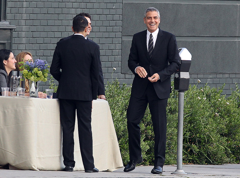 "George Clooney and His ""Official A-List"" Bud Tom Hanks Do Lunch With the President"