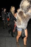 Nicole Richie Wears a Bejeweled Headdress For Her Night With a Prince