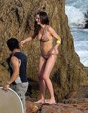 Miranda Kerr Slips on a Bright Two Piece to Continue the Bikini Times!