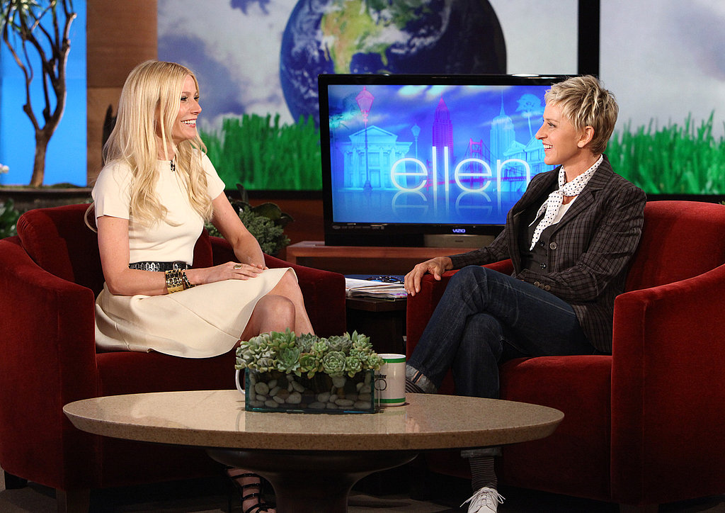 Pictures of Gwyneth Paltrow on The Ellen DeGeneres Show