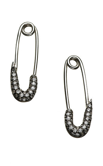Talon Safety Pin Earrings ($450)