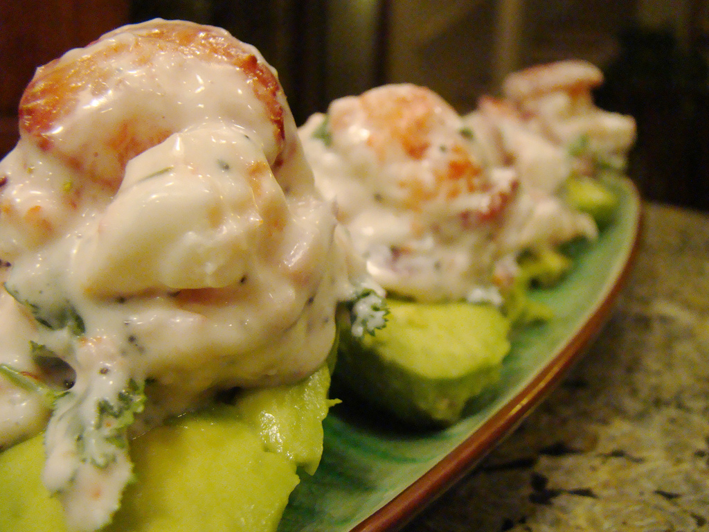 "Strawberry ""Crab"" Stuffed Avocado"