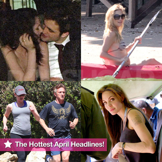 Angelina Jolie, Robert Pattinson, Pregnant Kate Hudson in a Bikini, ...