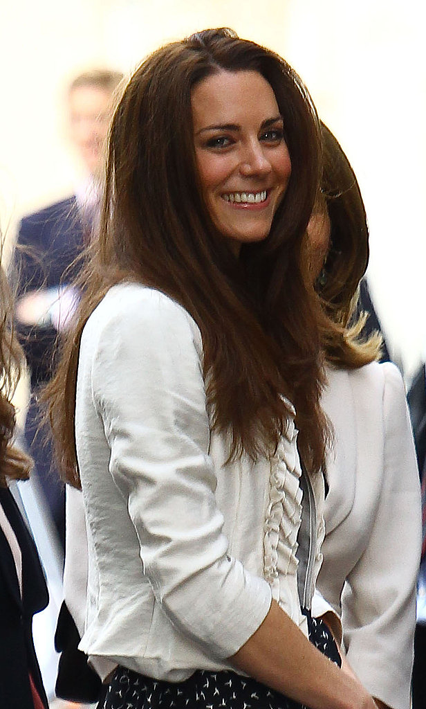Kate Middleton Smiles and Waves as She Arrives at the Goring Hotel Ahead of the Royal Wedding