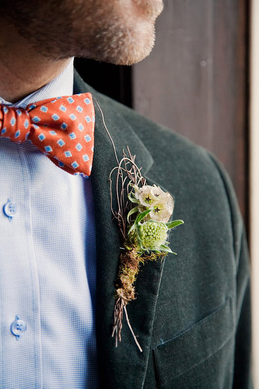 Very cool corsage, by our florist Chestnut and Vine.