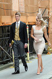 Lady Kitty Spencer in Victoria Beckham dress and Philip Treacy hat