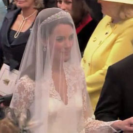 Kate Middleton Walking Down the Aisle Video