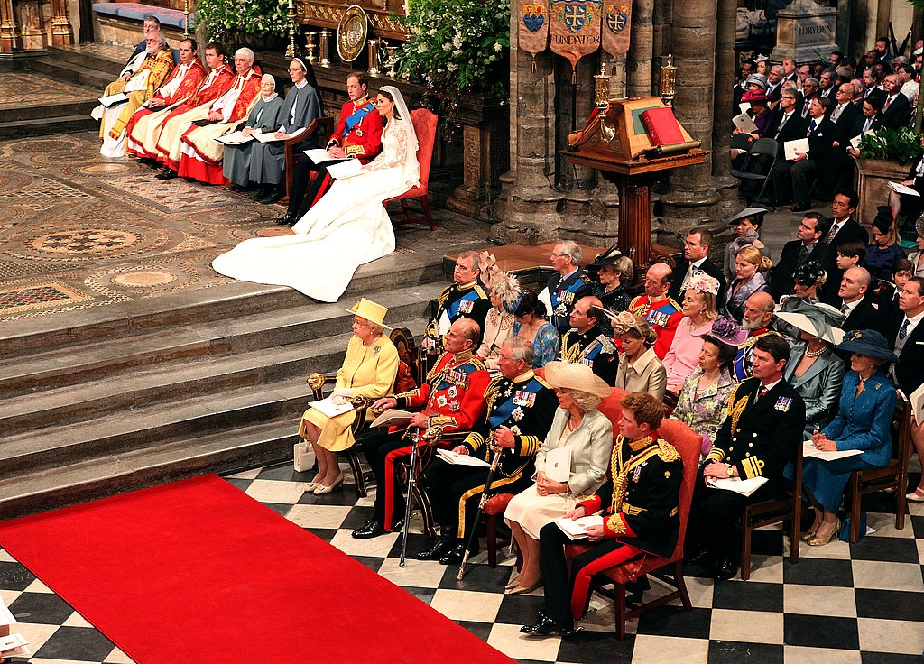 Prince William, Kate Middleton, Queen Elizabeth II, & Guests