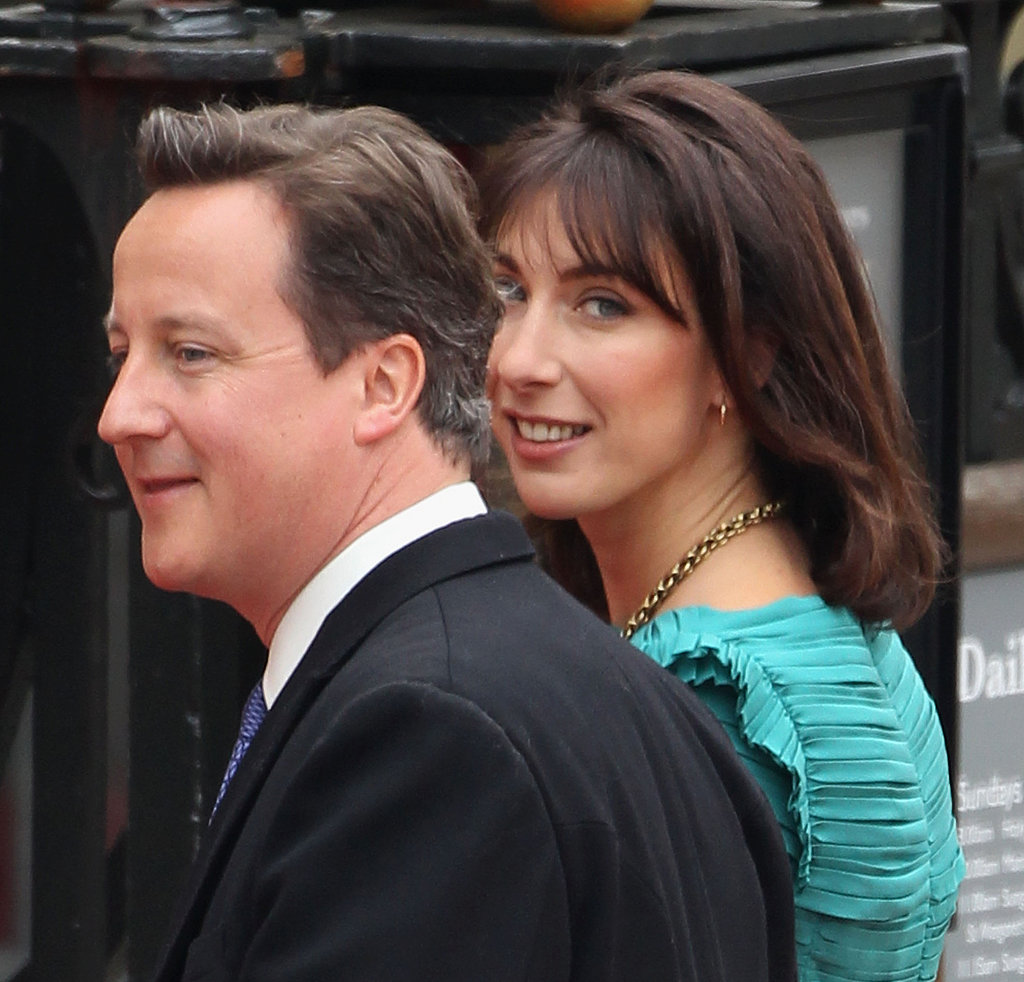 Prime Minister David Cameron and Samantha Cameron