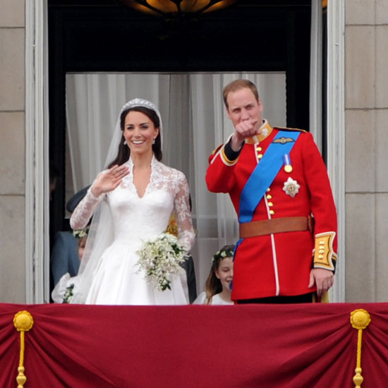 "As Kate and William stepped out to one million people waiting below the balcony she said, ""Oh wow!""  William then said, ""Alright? You'll be okay?"" and Kate said, ""Oh I'm fine, thank you."""