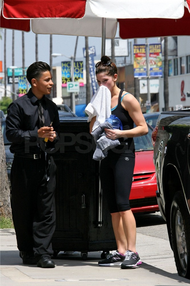 Ashley Greene Stays Very Hydrated