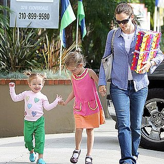 Jennifer Garner Attends a Birthday Party With Violet and Seraphina Affleck