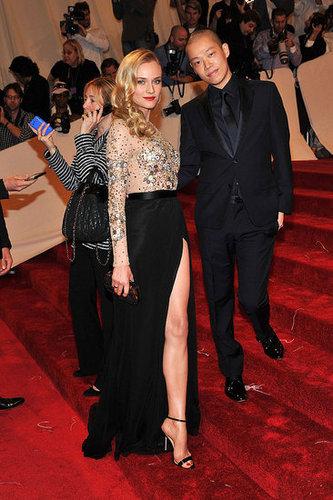 Diane Kruger in Jason Wu, with the designer