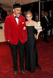 Christian Louboutin and Ashley Olsen in vintage Christian Dior couture
