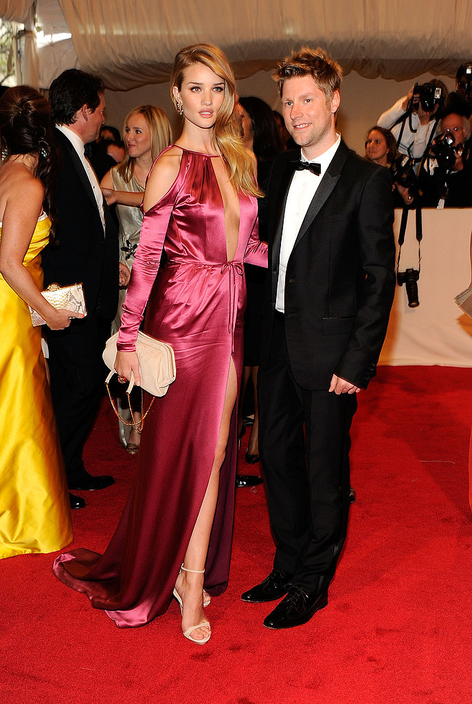 Rosie Huntington-Whiteley in Burberry, with Christopher Bailey