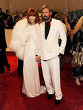 Florence Welch in Yves Saint Laurent and Stefano Pilati