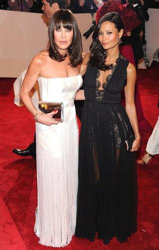 Tamara Mellon with Thandie Newton in Stella McCartney