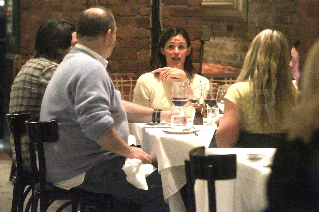 Jennifer Garner and Harvey Weinstein Break Bread and Talk Butter Over Dinner