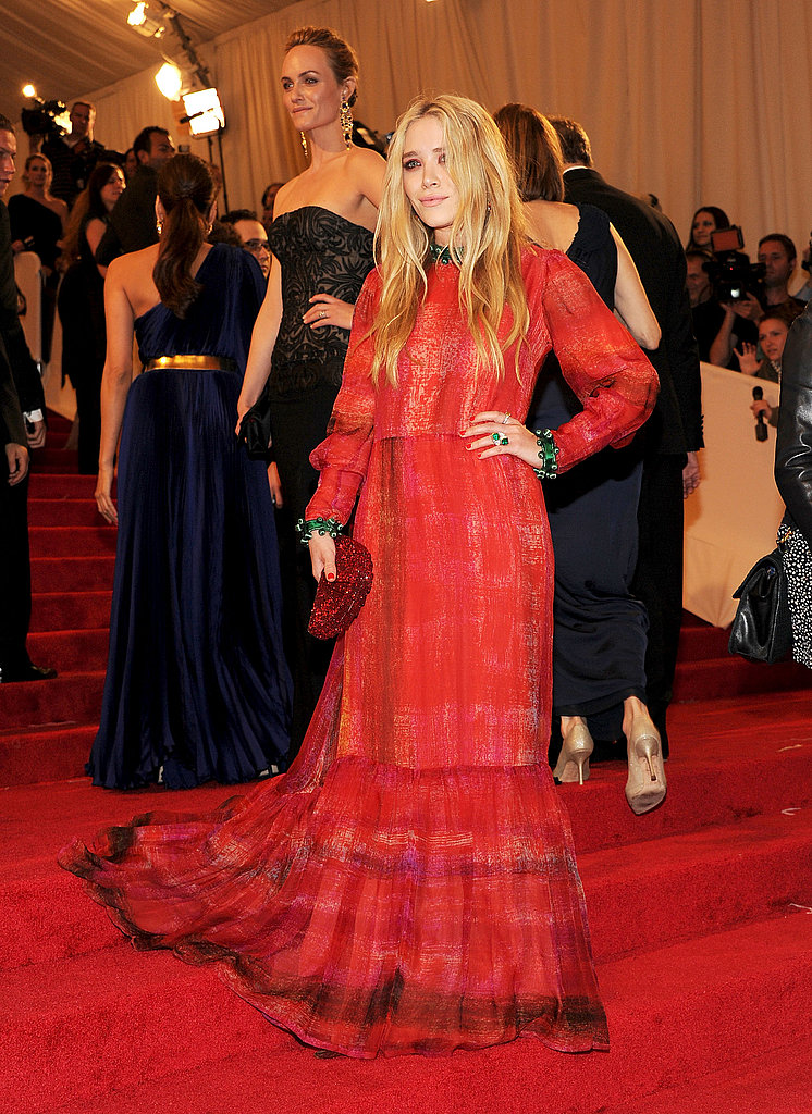 Mary-Kate Olsen Makes a Statement in Vintage Red at the Met Gala