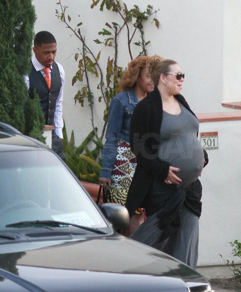 Pics: Mariah Carey Steps Out a Day Before Giving Birth to Twins!