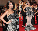 Shalom Harlow in Marchesa at 2011 Met Gala