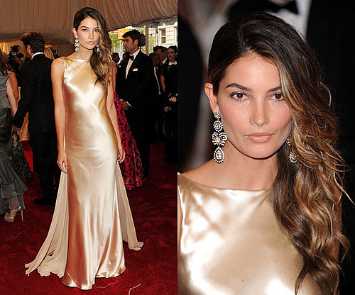 Lily Aldridge at the Met Gala 2011 in Ralph Lauren