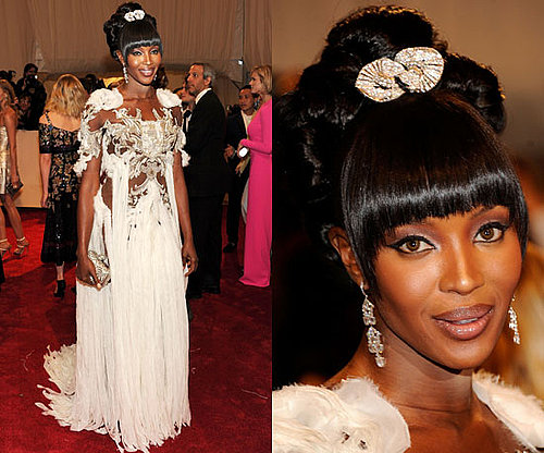 Naomi Campbell in McQueen at the 2011 Met Gala