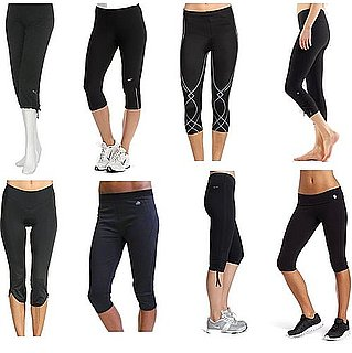 Stylish Black Workout Capri Pants