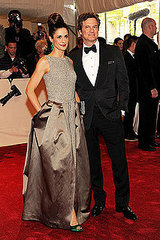 "Livia Giuggioli and Colin Firth (2011 Met Gala...""Alexander McQueen: Savage Beauty"")"