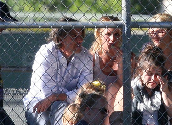 Britney and Jason Welcome Jamie Lynn and Maddie to Sean Preston's Little League Fan Club