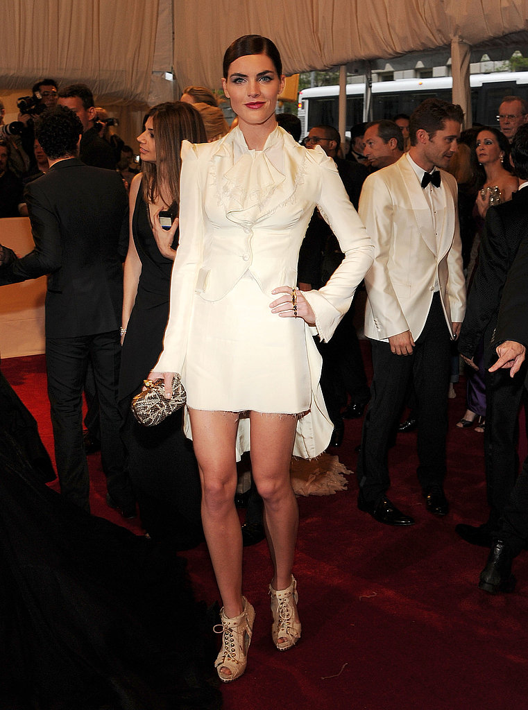 Hilary Rhoda in Alexander McQueen.