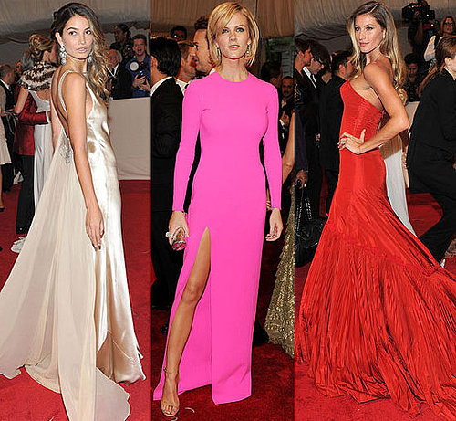 Models at Met Costume Institute Gala 2011