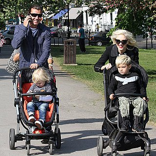 Gwen Stefani, Gavin, Zuma, and Kingston Rossdale Exploring Primrose Hill in London