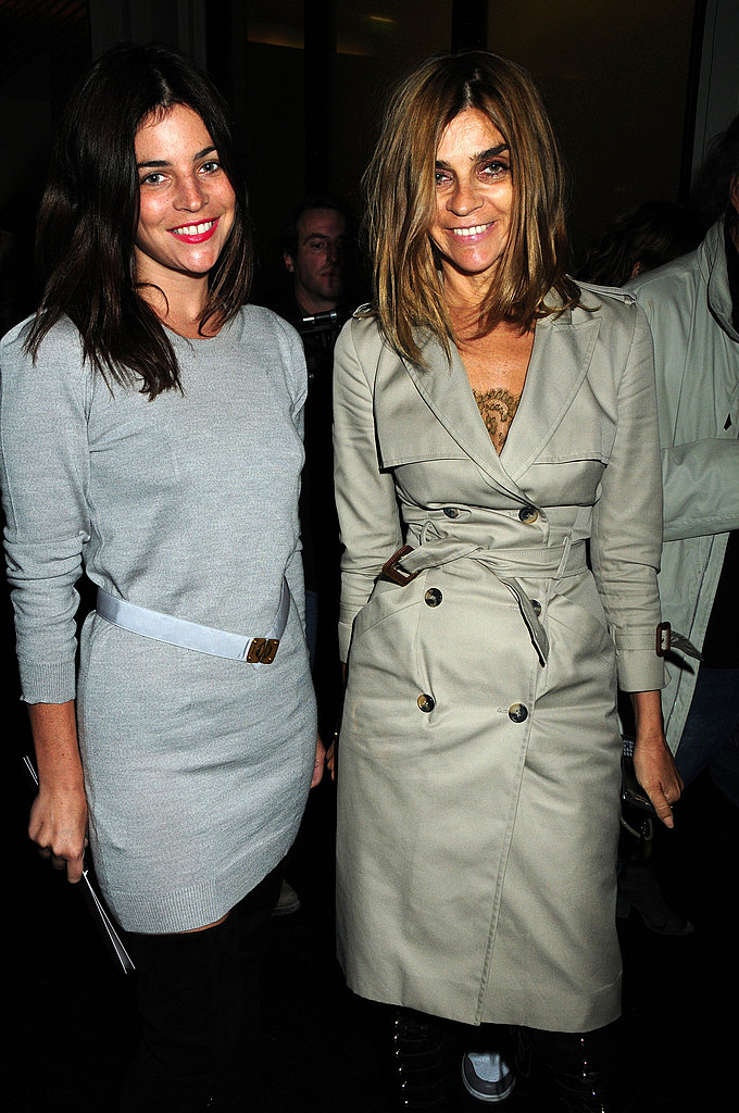 Julia Restoin-Roitfeld and mom Carine.