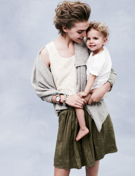 Arizona Muse with son Nikko.