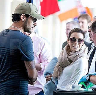Eva Longoria and Eduardo Cruz Leave LAX Together