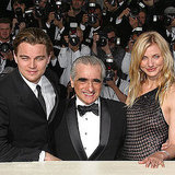 Leonardo DiCaprio and Cameron Diaz shared a photo with Martin Scorsese ahead of the 2002 premiere of Gangs of New York.