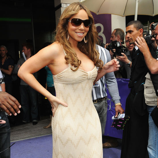Mariah Carey was spotted leaving her hotel to attend a photocall for Precious in 2009.
