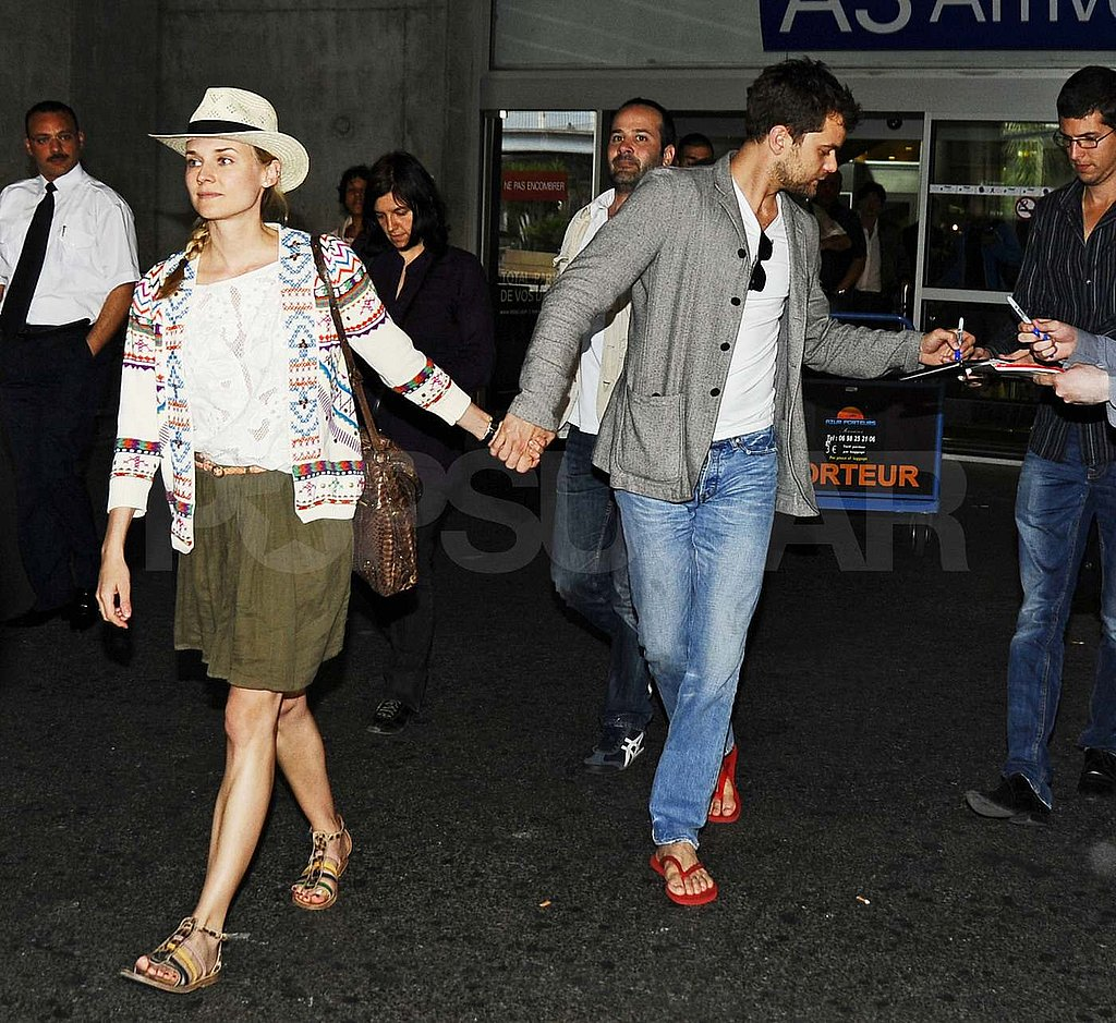 Josh and Diane Arrive at Cannes Hand in Hand