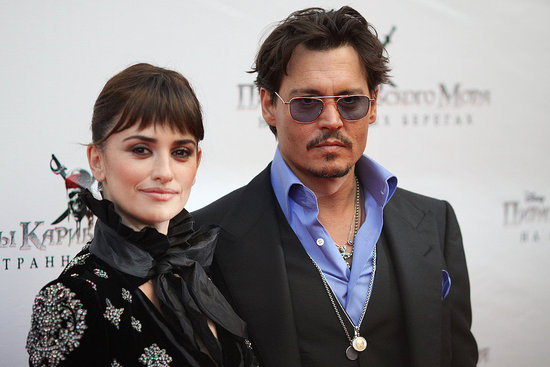 Penelope Cruz Debuts Bangs and a Snowflake Dress at a Russian Premiere With Johnny Depp