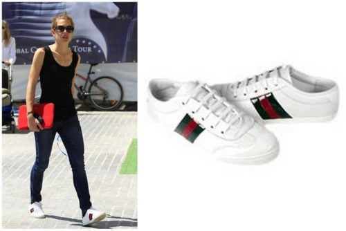 Charlotte Casiraghi in Gucci Shoes.