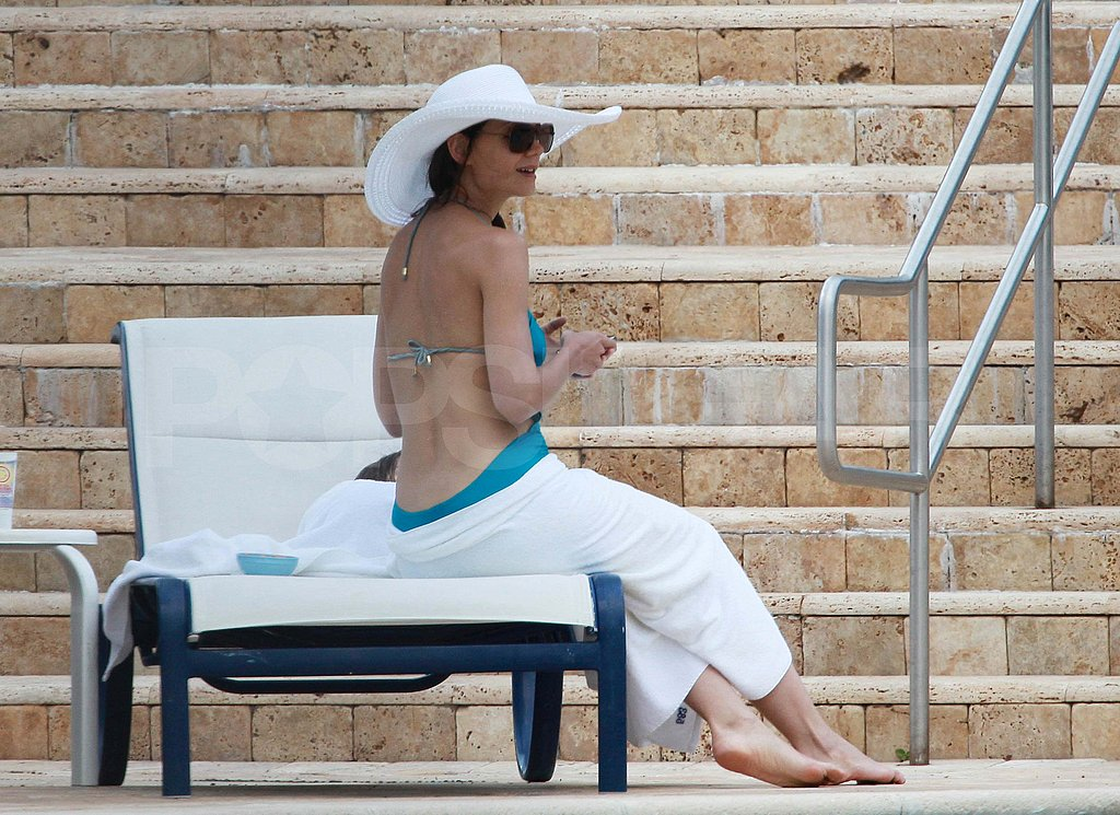 Katie Holmes and Suri Slip On Their Suits For a Fun Day at the Pool