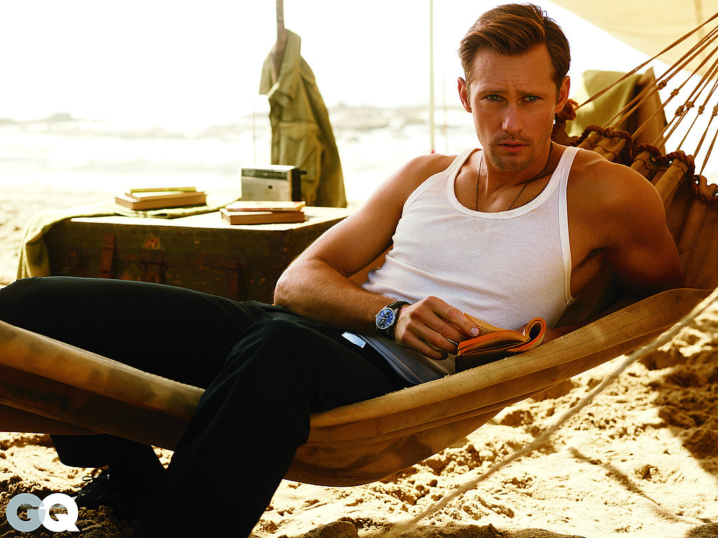 Alexander Skarsgard Shows Hot Muscle, Talks True Blood, and Family in GQ