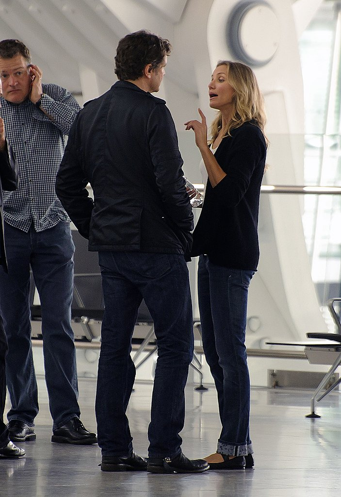 Cameron Diaz Flaunts Her Long Legs on the Gambit Set With Colin Firth
